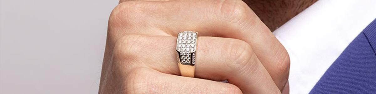 anillo para hombre con diamante