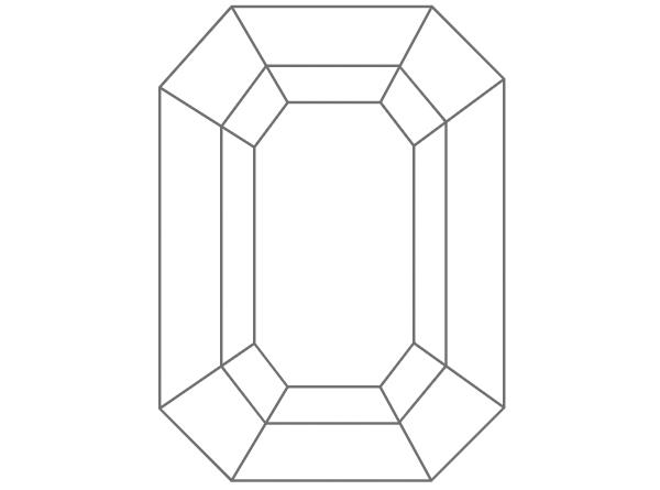 diamante en forma esmeralda