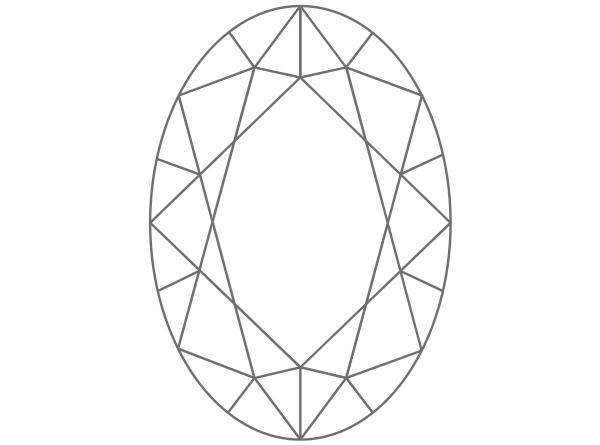 diamante en forma ovalada