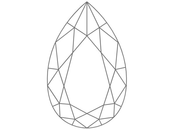 diamante en forma de pera o lágrima