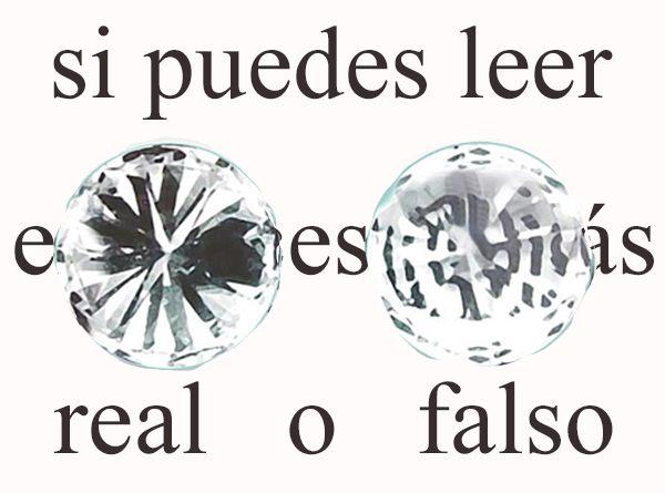 diamante sobre texto