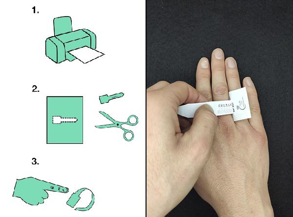manos posando con medidores imprimible